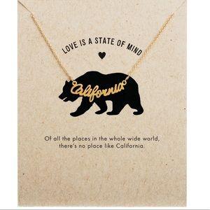 California Beach Surf Cali Necklace-Silver or Gold